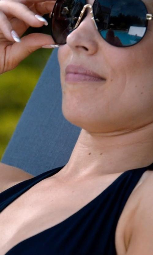 Rachel McAdams with Alexis Bittar Jagged Crystal Liquid Orbit Hoop Earrings in Southpaw