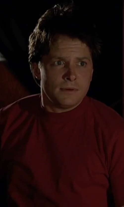 Michael J. Fox with J.Lindeberg Axtell Crew Neck T-Shirt in Back To The Future Part II