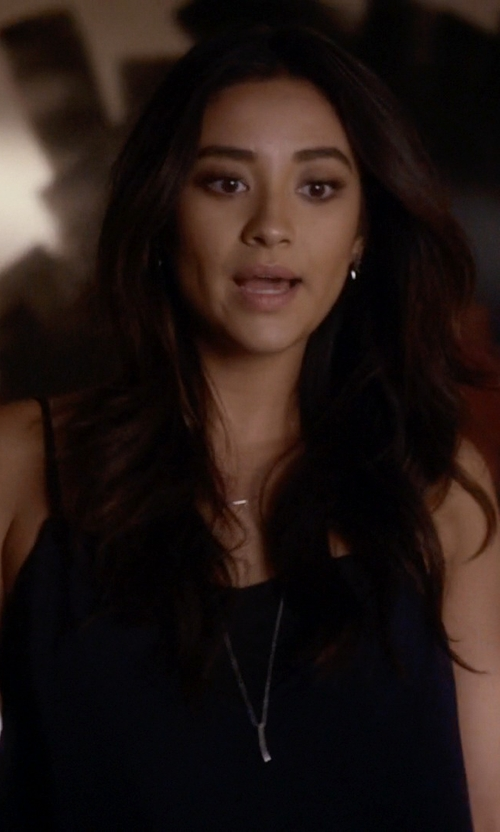 Shay Mitchell with Topshop Spike Hoop Earrings in Pretty Little Liars