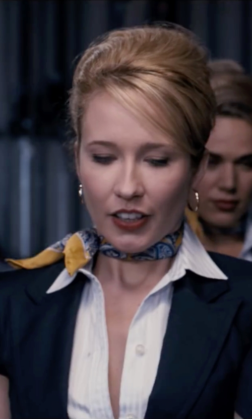 Anna Camp with Efreewd Silk Square Scarf Neckerchief in Pitch Perfect