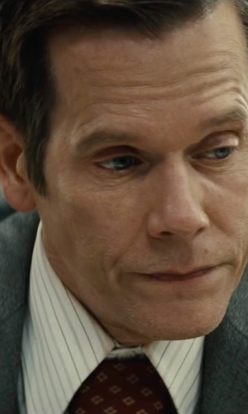 Kevin Bacon with Dolce & Gabbana Wide Stripe Dress Shirt in Black Mass