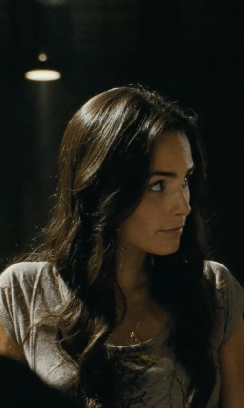 Jordana Brewster with Urban Outfitters Tegan and Sara Hands Tee in Fast Five