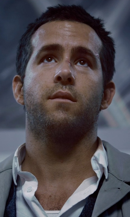 Ryan Reynolds with Brooks Brothers Button-Down Cotton Oxford Shirt in Self/Less