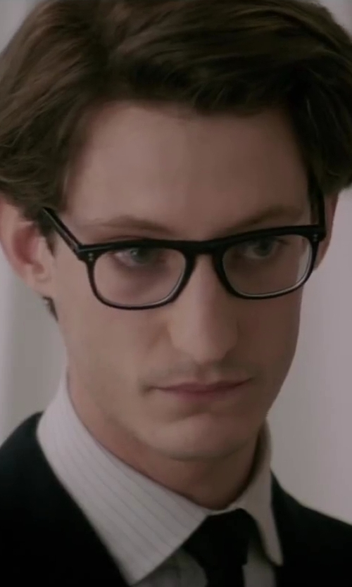 Pierre Niney with Corneliani Fine Striped Dress Shirt in Yves Saint Laurent