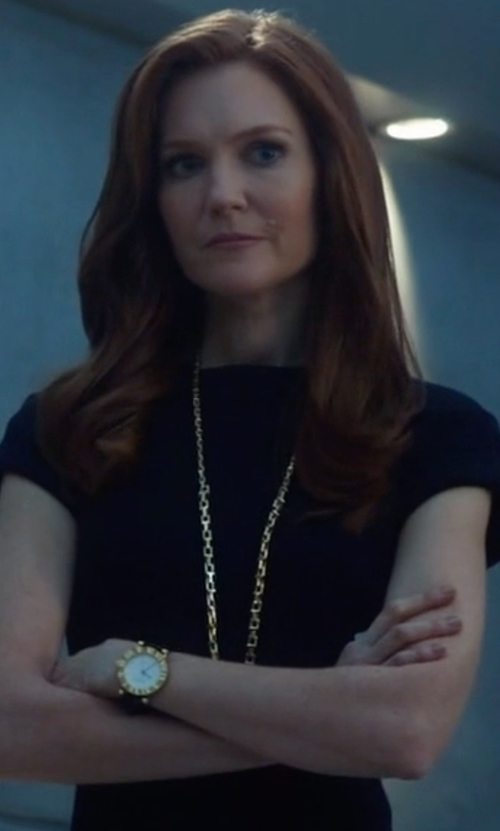 Darby Stanchfield with Versace Acron Diamond-Accented Watch in Scandal