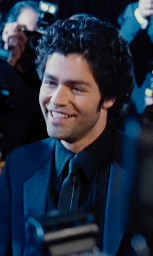 Adrian Grenier with Yves Saint Laurent Grosgrain Solid Skinny Tie in Entourage
