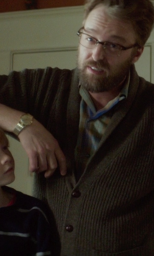 Joshua Leonard with Zanone Classic V-Neck Cardigan in If I Stay