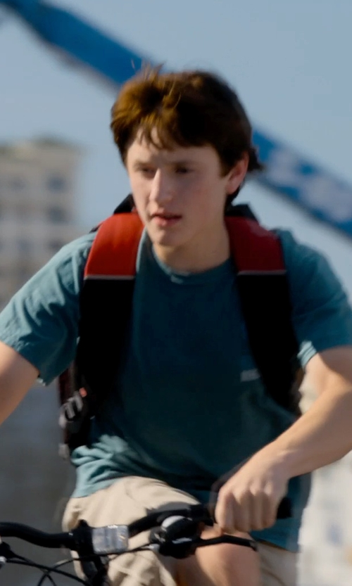 Nathan Gamble with Comfort Colors Custom Made Clearwater Research Team Shirt (Nathan Gamble) in Dolphin Tale 2