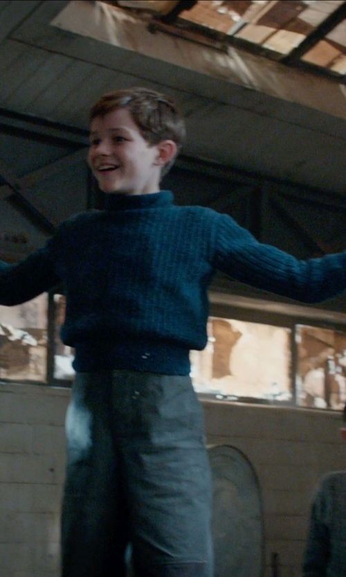 Levi Miller with Barbour Kirk Sweater in Pan