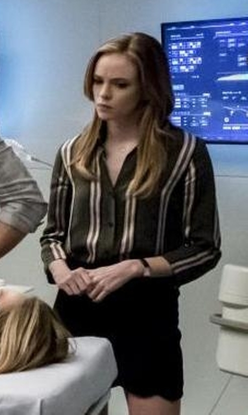 Danielle Panabaker with Le Fou by Wilfred Racine Blouse in The Flash