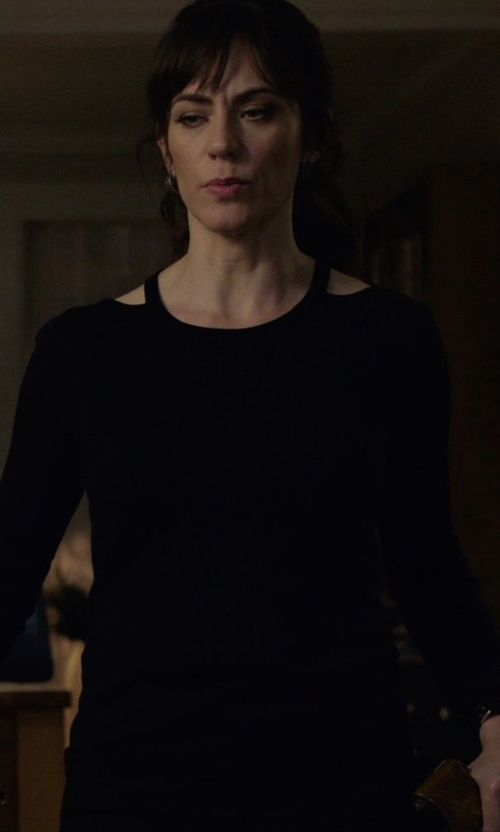 Maggie Siff with Koral Hold Long Sleeve Top in Billions