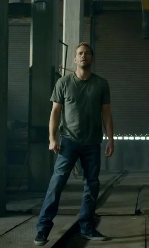 Paul Walker with JEY COLE MAN Denim pants in Brick Mansions