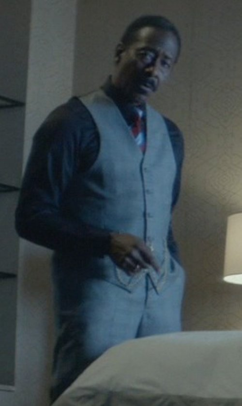 Clarke Peters with Armani Collezioni Textured Solid Dress Shirt in John Wick