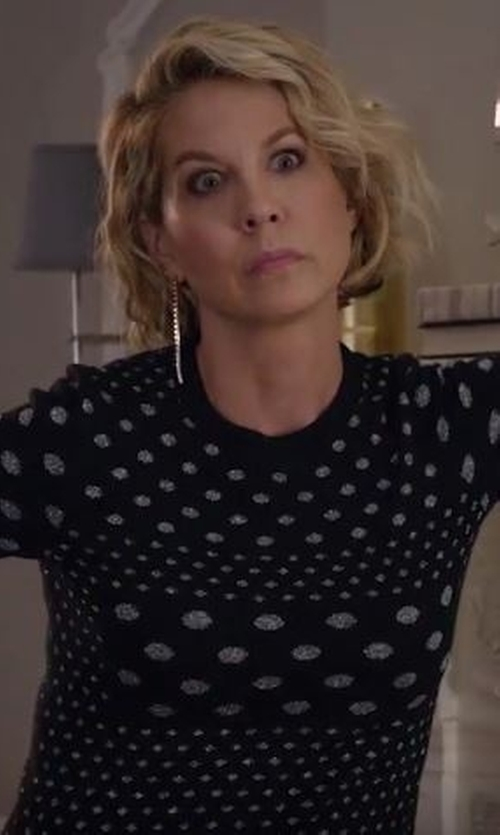 Jenna Elfman with Marc by Marc Jacobs Polka Dot Top in Imaginary Mary