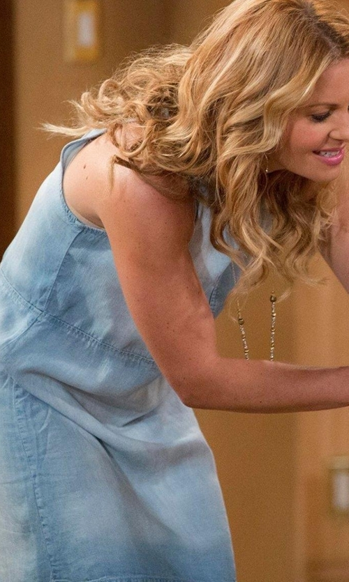 Candace Cameron Bure with Bella Dahl Open Back Halter Dress in Fuller House
