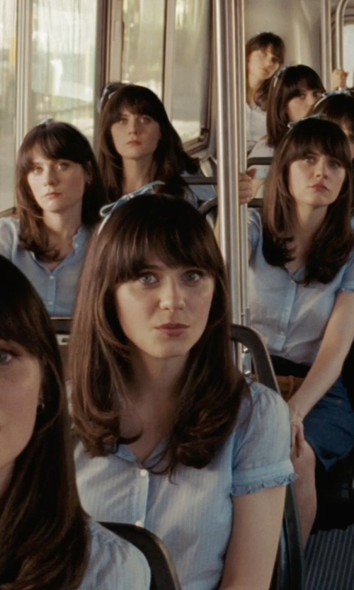 Zooey Deschanel with Capsul by Cara Denim Bow Headband in (500) Days of Summer