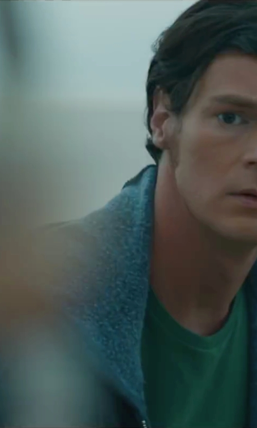 Benjamin Walker with J. Crew Brushed Zip Fleece Hoodie in The Choice