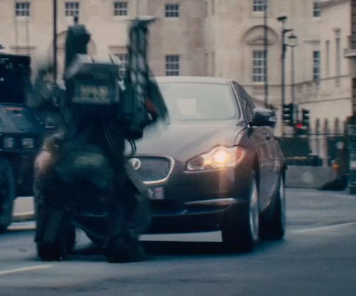 Unknown Actor with Jaguar XF in Edge of Tomorrow