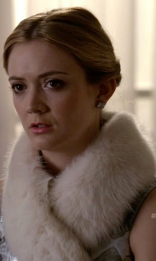 Billie Lourd with Fabulous Furs Faux Mink Fur Infinity Scarf in Scream Queens
