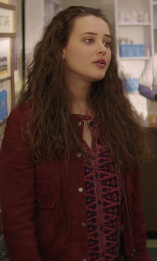 Katherine Langford with Sanctuary Marni Surplus Jacket in 13 Reasons Why