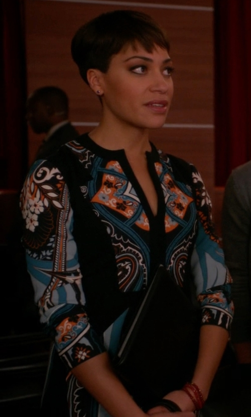 Cush Jumbo with Hale Bob Short Dress in The Good Wife