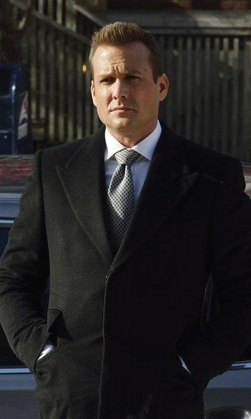 Gabriel Macht with Ermenegildo Zegna Geometric Silk Tie in Suits