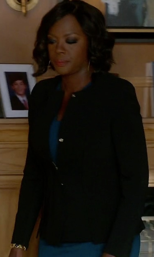 Viola Davis with Escada Pintuck Blazer in How To Get Away With Murder