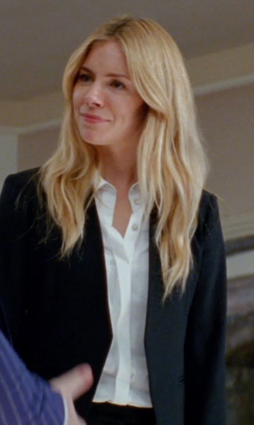Sienna Miller with Steven Alan Untwisted Boyfriend Shirt in Unfinished Business