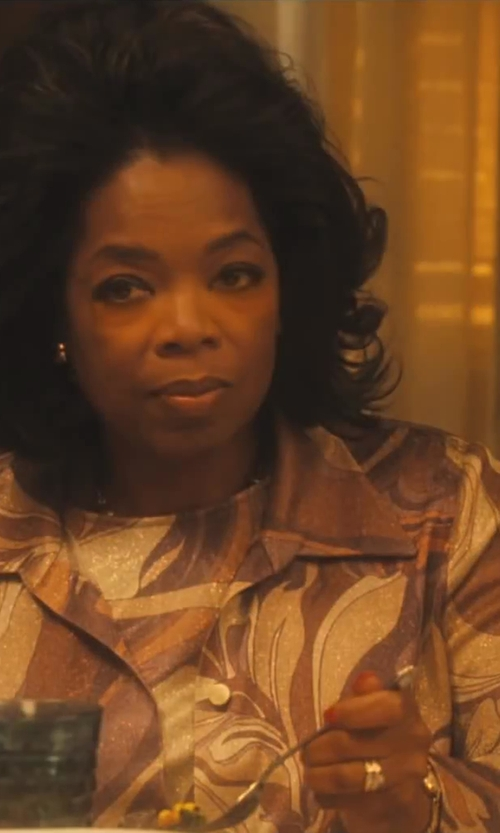 Oprah Winfrey with Ruth E. Carter (Costume Designer) Custom Made Patterned Blazer (Gloria Gaines) in Lee Daniels' The Butler