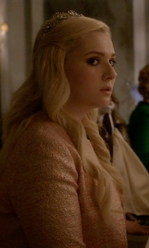 Abigail Breslin with Melissa Kay Collection Rhinestone Crystal Tiara in Scream Queens