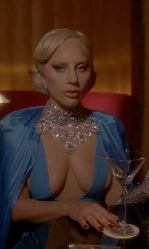 Lady Gaga with ABS Cutout-Detail Gown in American Horror Story