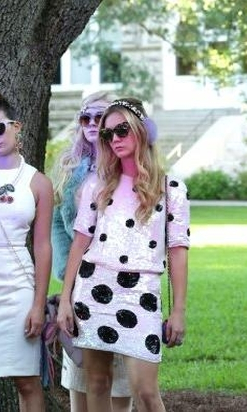 Billie Lourd with Barton Perreira Ronette Cat-Eye Sunglasses in Scream Queens