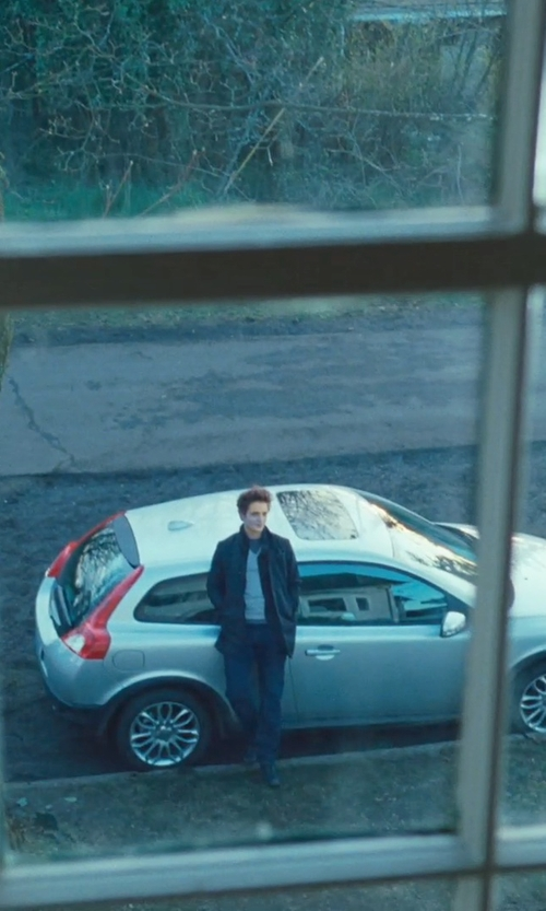 Robert Pattinson with G-Star Raw Standing Collar Coat in Twilight