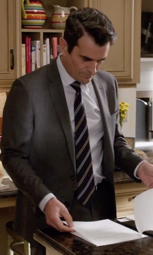 Ty Burrell with Les Hommes Stripe Tie in Modern Family