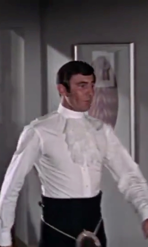 George Lazenby with Frank Foster (Costume Designer) Custom Made Ruffled-Front Shirt in On Her Majesty's Secret Service
