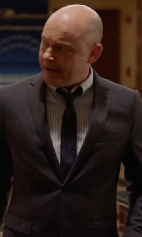Rob Corddry with Lanvin Grosgrain Solid Tie in Ballers