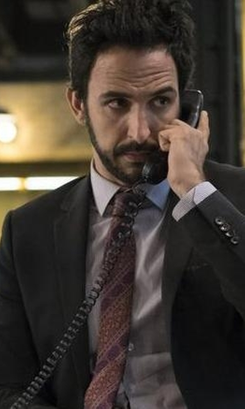 Amir Arison with Van Heusen Mason Shaded-Striped Tie in The Blacklist