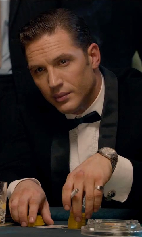 Tom Hardy with Yves Saint Laurent Satin Bow Tie in Legend
