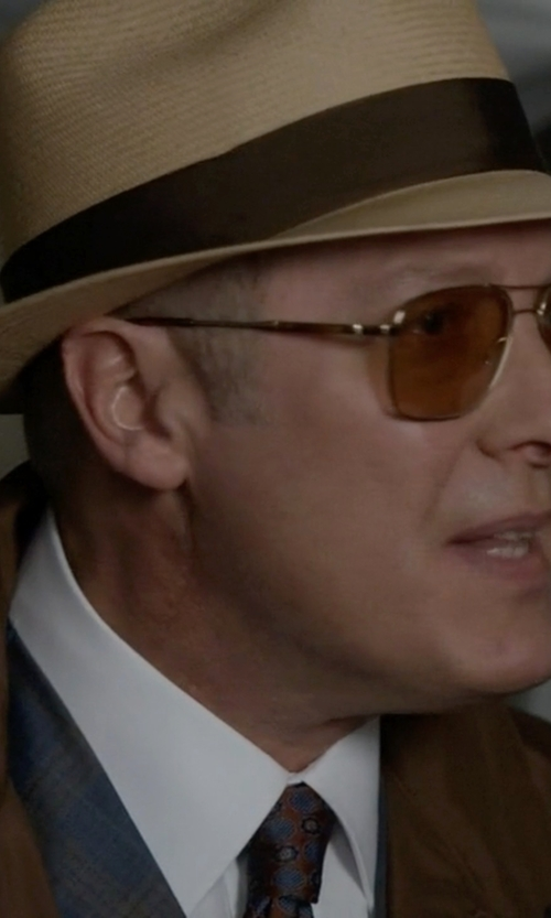 James Spader with Polo Ralph Lauren White Cotton Shirt in The Blacklist