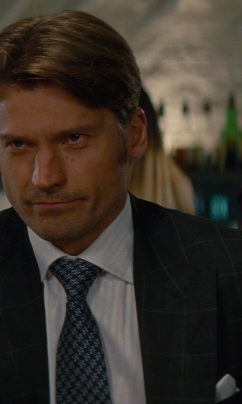 Nikolaj Coster-Waldau with Tom Ford Made To Measure Black Check Suit in The Other Woman