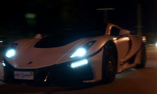Dwayne Johnson with Ferrari LaFerrari Car in Ballers