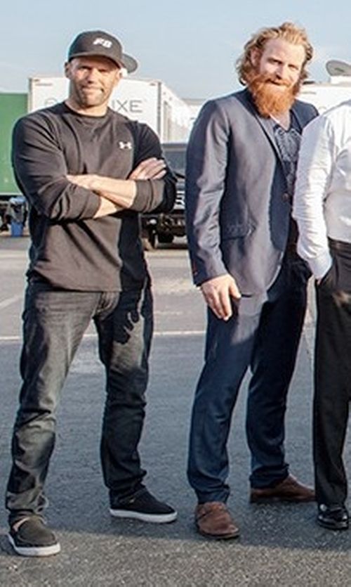 Jason Statham with Vans Bali SF Shoes in The Fate of the Furious
