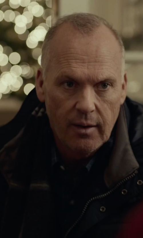 Michael Keaton with Andrew Marc Hooded Parka Jacket in Spotlight