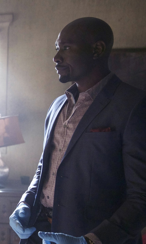 Morris Chestnut with Ted Baker London 'Florall' Fit Sport Shirt in Rosewood