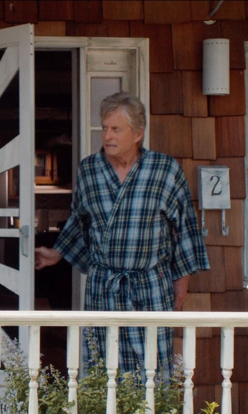 Michael Douglas with Dockers Men's Flannel Robe in And So It Goes
