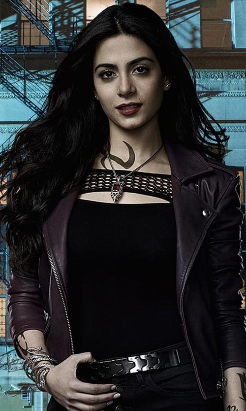 Emeraude Toubia with Bailey 44 Northern Circuit Cutout Top in Shadowhunters