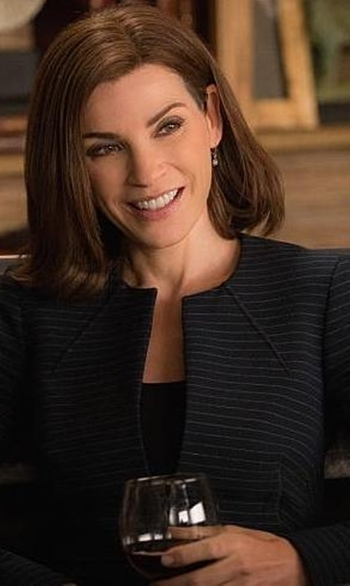 Julianna Margulies with Hobbs Aphra Jacket in The Good Wife