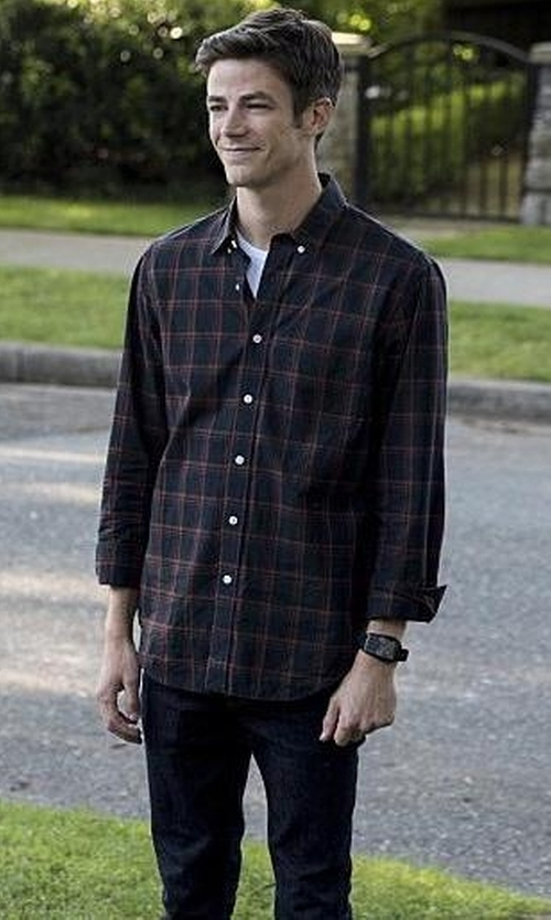 Grant Gustin with WeSC  Eddy Classic-Fit Jeans in The Flash