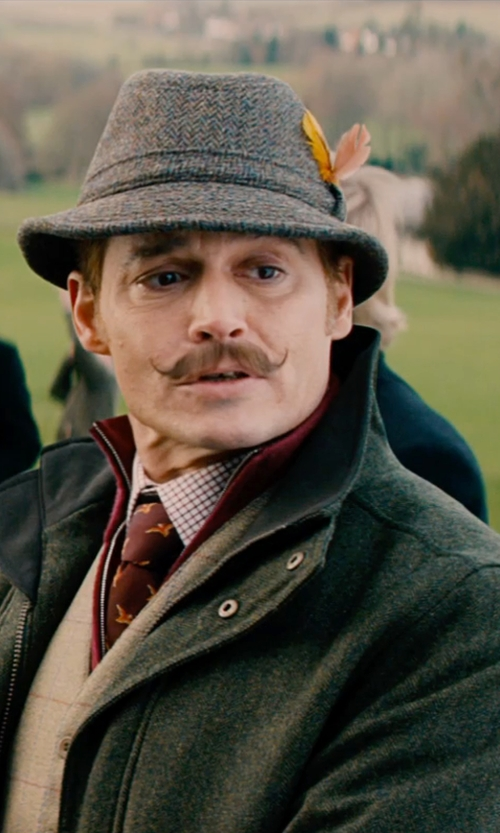 Johnny Depp with JoS. A. Bank Signature Merino Wool Half-Zip Sweater in Mortdecai