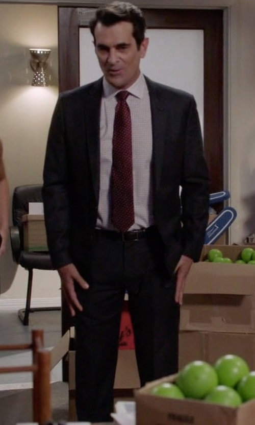 Ty Burrell with Versace Collection Classic Wool Suit in Modern Family